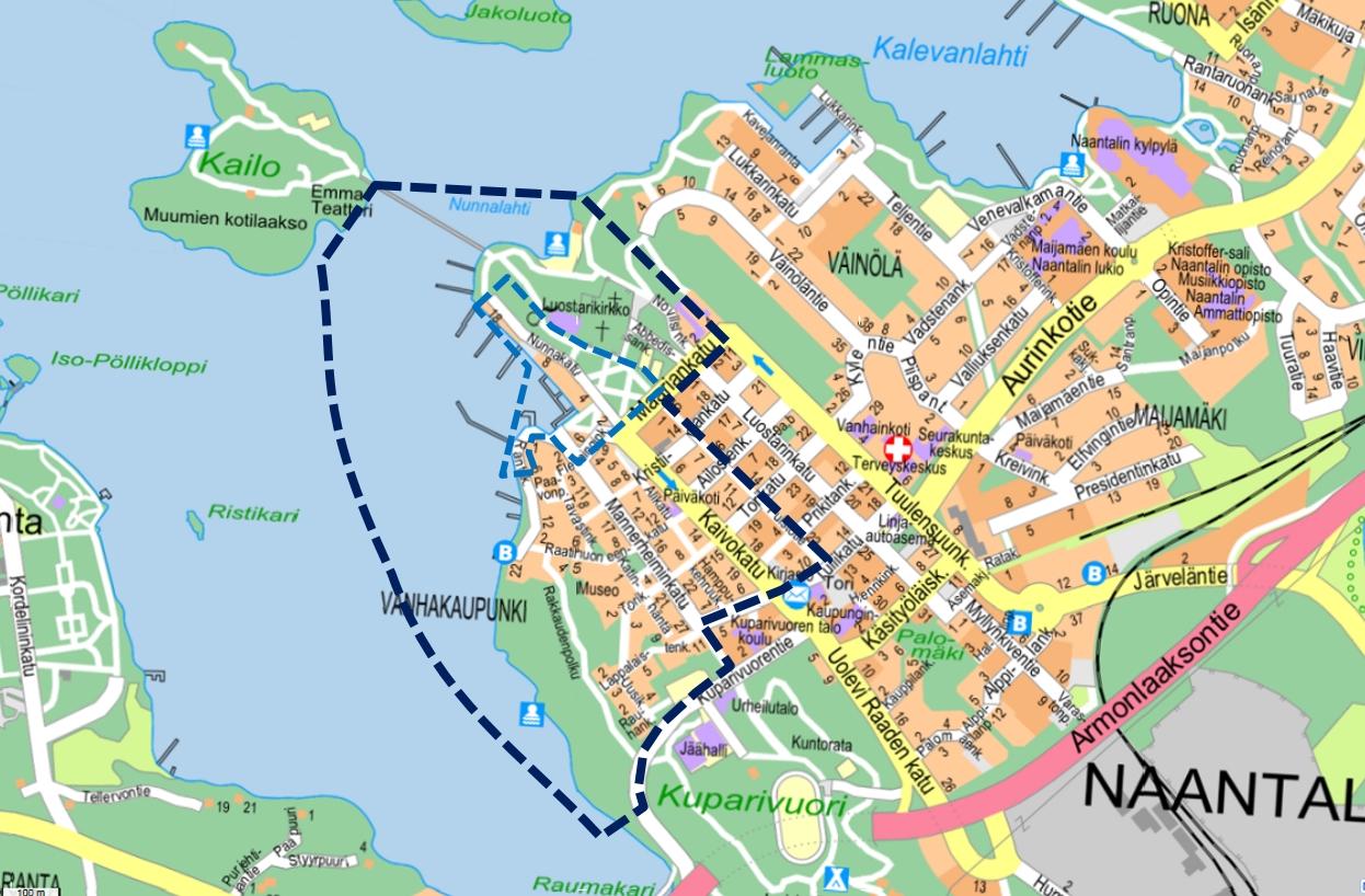 Harava Naantalin Vanhankaupungin Rannan Yleissuunnitelma